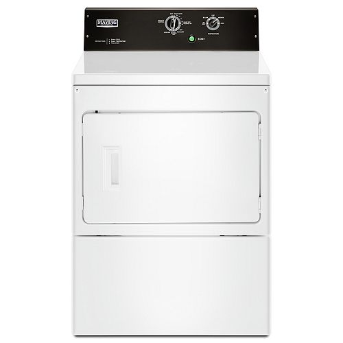 Maytag 7.4 cu. ft. Front Load Commercial Electric Dryer in White