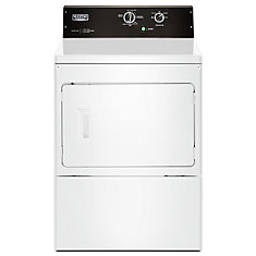 7.4 cu. ft. Front Load Commercial Gas Dryer in White