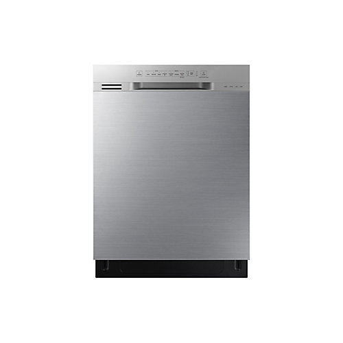 24-inch Front Control Dishwasher in Stainless Steel with Plastic Tub, 51 dBA