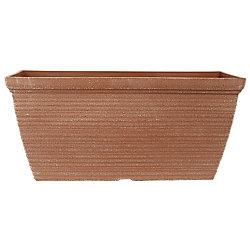 THD Bombay Windowbox plastic Powdered clay Planter 20 inch