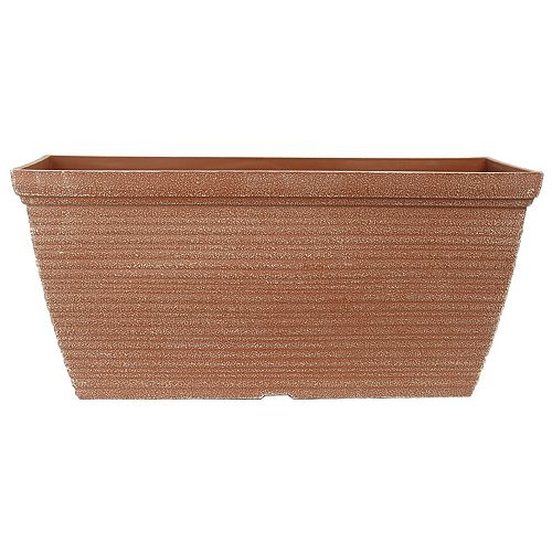 THD Generic Bombay Windowbox plastic Powdered clay Planter 20 inch