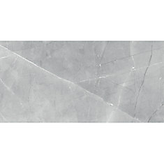 Pulpis Grey 12-inch x 24-inch HD Polished Rectified Porcelain Tile (15 5  sq ft  / case)
