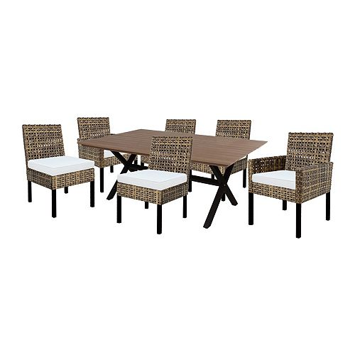 Hampton Bay Stockton 7-Piece Dining Set