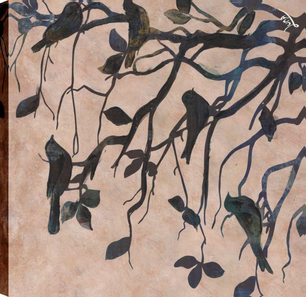 Art Maison Canada Tree Birds II, Animal Natue Art, Canvas Print Wall Art Décor 24X24 Ready to hang