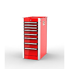 SHD Series, 35inch. high, 8 drawer side cabinet, Red