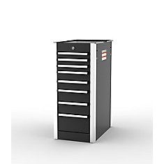 SHD Series, 35inch. high, 8 drawer side cabinet, Black