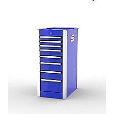 SHD Series, 35inch. high, 8 drawer side cabinet, Blue