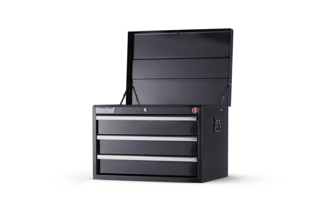 International 27inch. 3 drawer deep top chest, Black