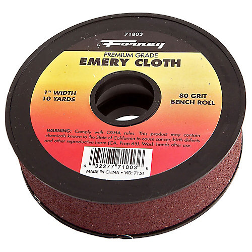 Emery Cloth Bench Roll, 80 Grit