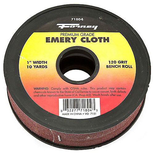 Emery Cloth Bench Roll, 120 Grit
