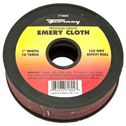 Forney Industries Emery Cloth Bench Roll, 120 Grit