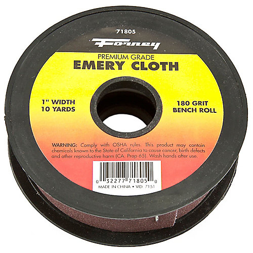Emery Cloth Bench Roll, 180 Grit