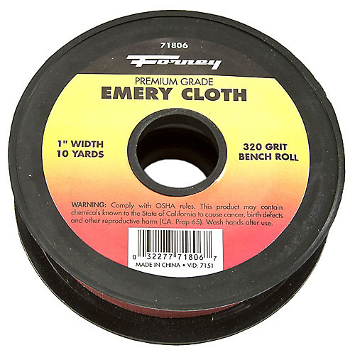 Emery Cloth Bench Roll, 320 Grit