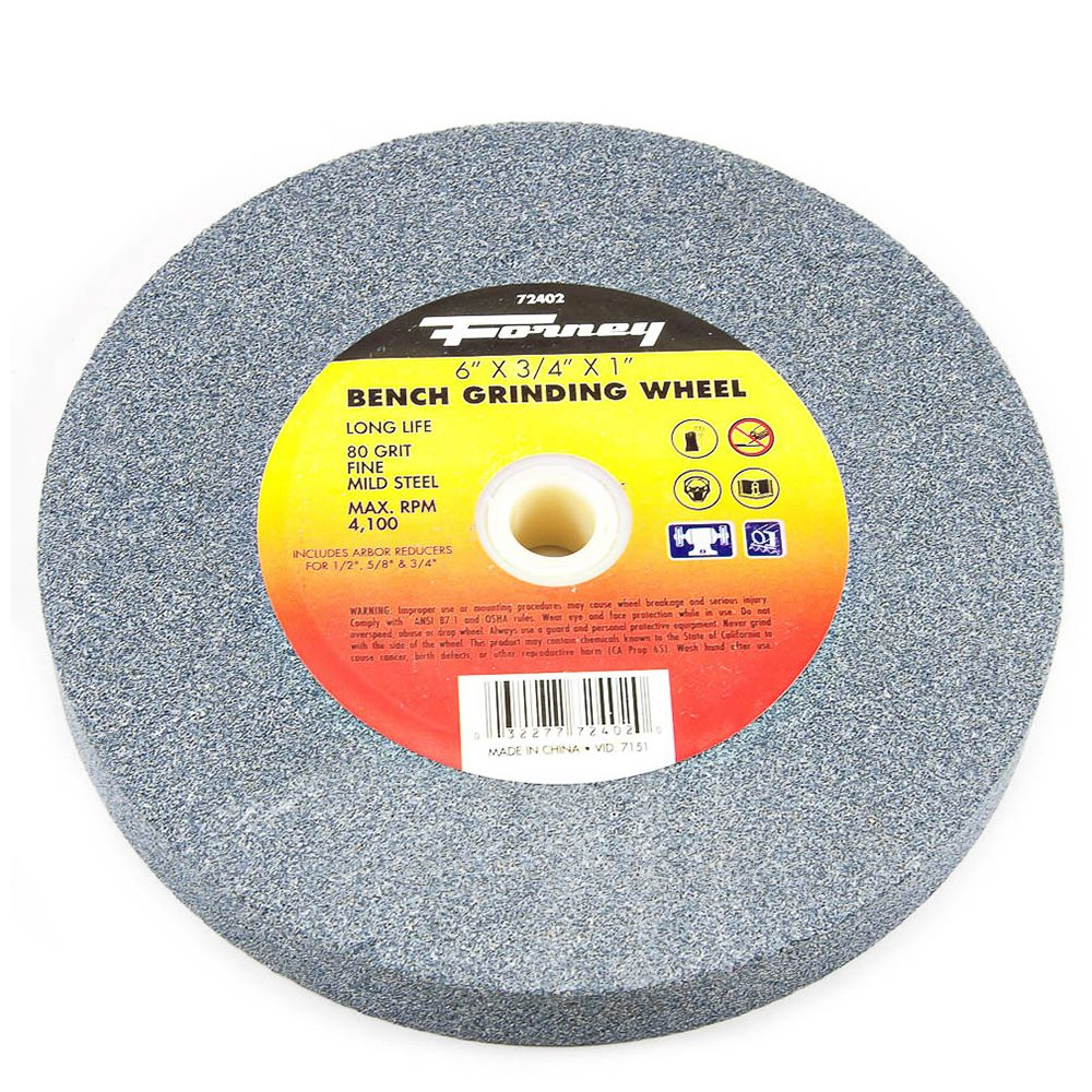 Forney Industries Bench Grinding Wheel 6 Inch X 3 4 Inch