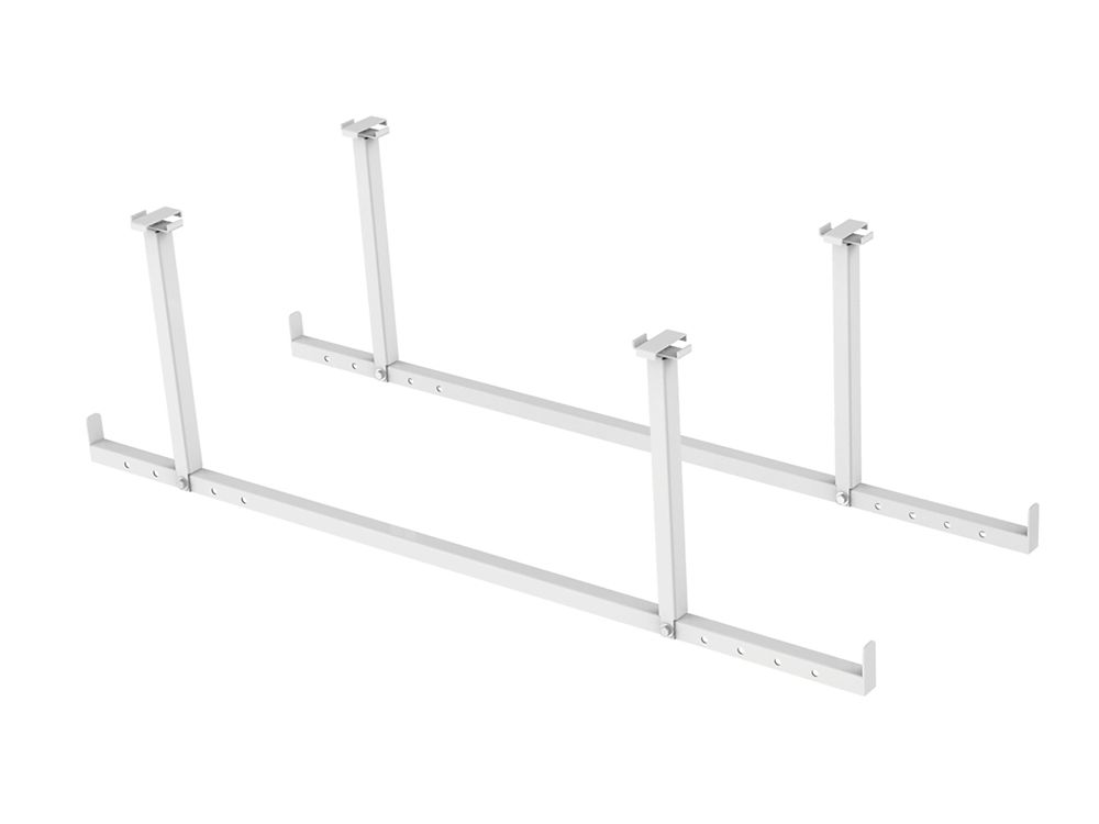 NewAge Products Inc. VersaRac 2 Piece White Accessory Kit (Hanging Bars)