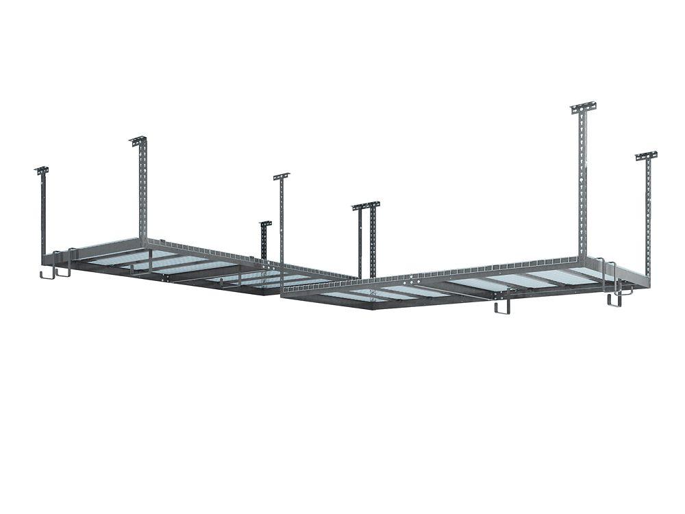 NewAge Products Inc. VersaRac Set with 2 Overhead Rack and 8 Piece Accessory Kit (2xVersaRac, 2xS-Hooks)