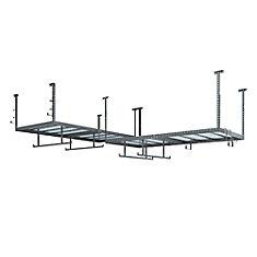 Ensemble VersaRac gris avec 2 étagères suspendues et ensemble d'accessoires 14 pièces