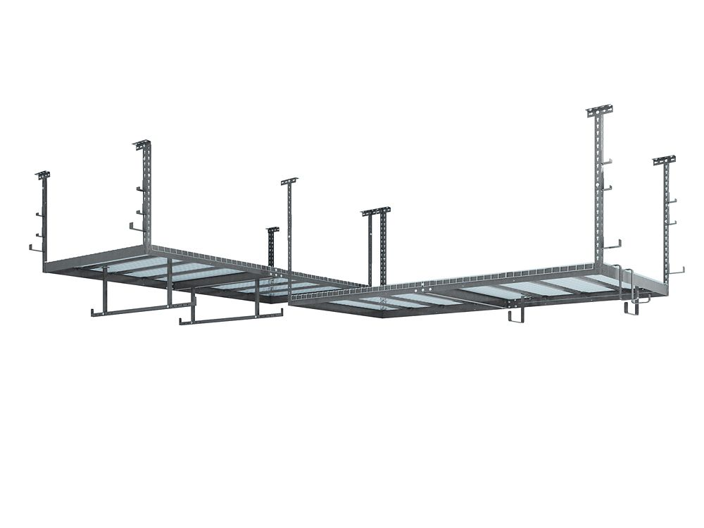 NewAge Products Inc. VersaRac Set in Grey with 2 Overhead Rack and 18-Piece Accessory Kit