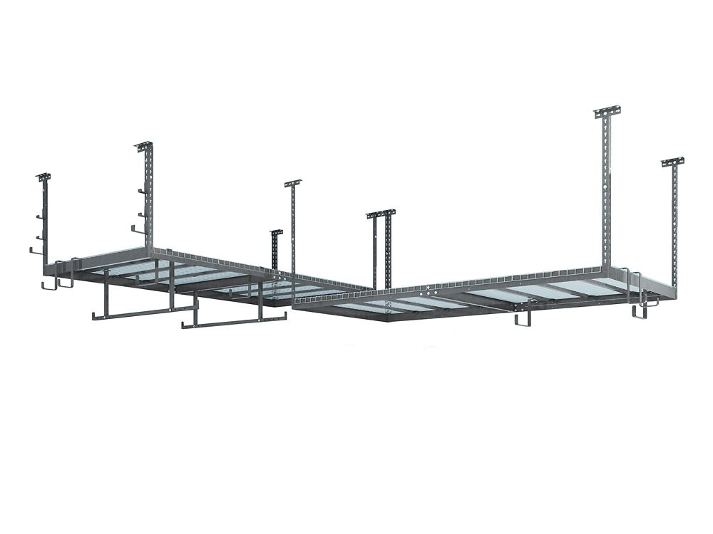 NewAge Products Inc. VersaRac Set in Grey with 2 Overhead Rack and 16-Piece Accessory Kit