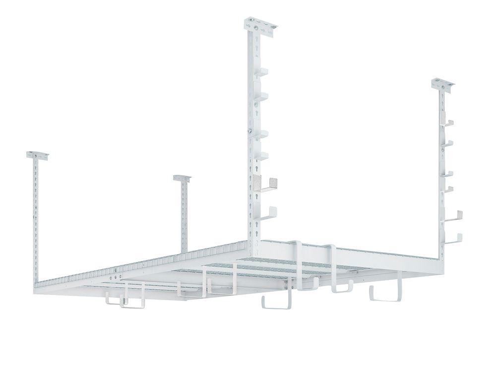 NewAge Products Inc. VersaRac Set with 1 Overhead Rack and 20-Piece Accessory Kit (Versarac, 2xS-Hooks, 2xJ-Hooks)