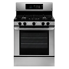 30-inch 5.4 cu.ft. Single Oven Gas Range in Stainless Steel