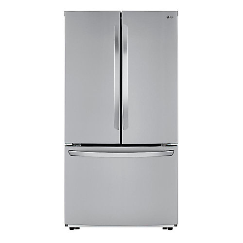 36-inch W 23 cu. ft. French Door Refrigerator in Stainless Steel, Counter Depth - ENERGY STAR®