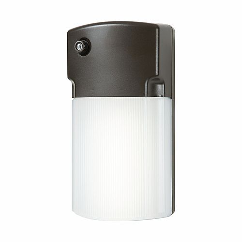 Halo Bronze Outdoor Integrated LED Wall Pack Light with Dusk to Dawn Photocell Sensor