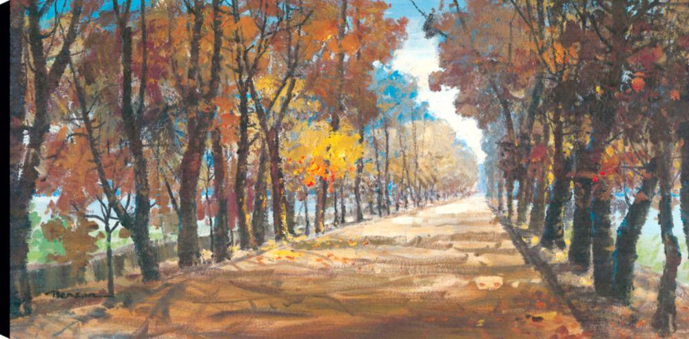 Art Maison Canada Farm Lane I, Landscape Art, Canvas Print Wall Art Décor 24x48 Ready to hang