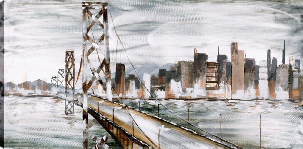Art Maison Canada San Fransisco, Landscape Art, Canvas Print Wall Art Décor 30X60 Ready to hang