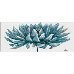 Art Maison Canada Blue Lotus, Floral Art, Canvas Print Wall Art Décor 20X50 Ready to hang