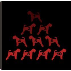 Art Maison Canada Groupe de chien, Animal Art, Décor toile impression murale Art 24 X 24 prêt à accrocher