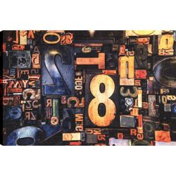 Art Maison Canada Graffiti, j'ai, Art abstrait, toile impression mur Art Décor 24 X 36 prêt à accrocher