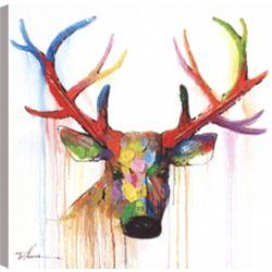 Art Maison Canada Deer Head, Animal Art, Canvas Print Wall Art Décor 24X24 Ready to hang