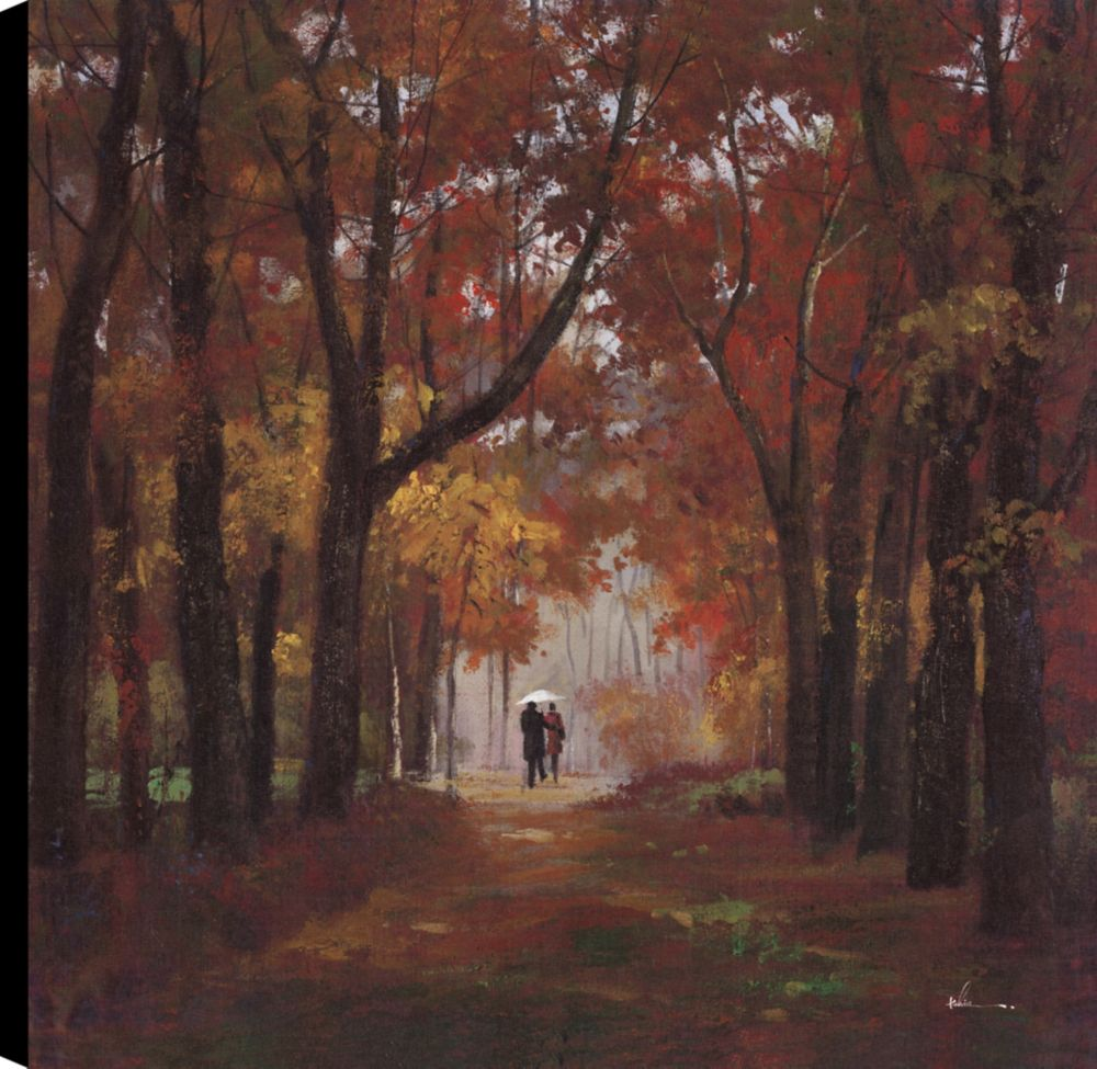 Art Maison Canada Autumn Trails I, Landscap Art, Canvas Print Wall Art Décor 24X24 Ready to hang