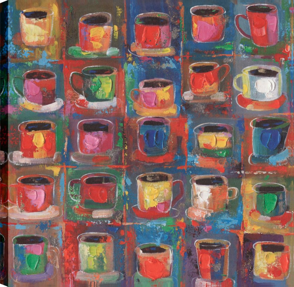 Art Maison Canada Cups rack, Abstract Art, Canvas Print Wall Art Décor 24X24 Ready to hang