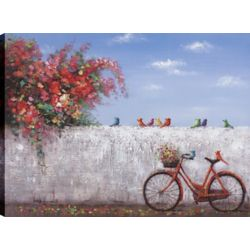 Art Maison Canada Bike Ride II, Landscape Art, Canvas Print Wall Art Décor 30X40 Ready to hang