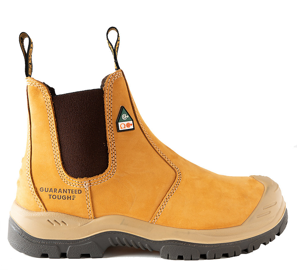 17001220352 Nitrogen *CSA approved* Men's (size 7) 6 inch. Steel Toe/Composite Plate,  Side Gore/Slip-On Work Boot