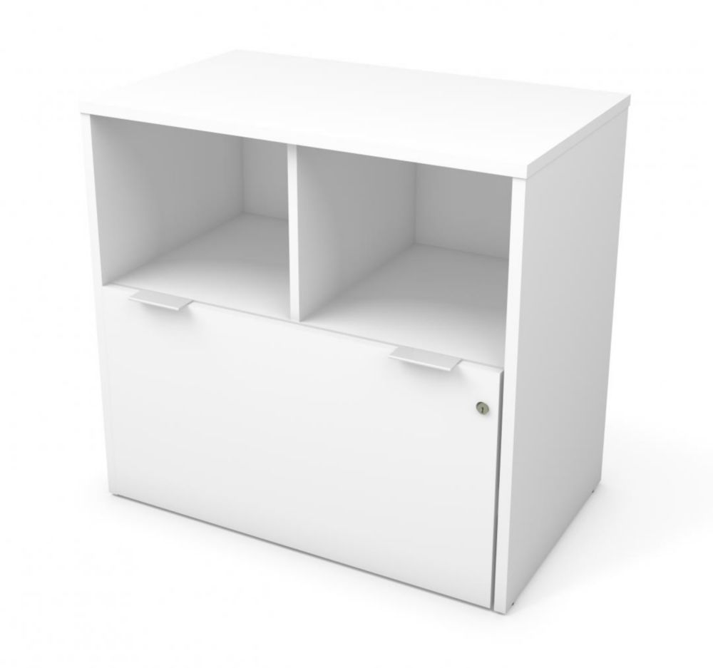 Bestar i3 Plus One Drawer Lateral File in White