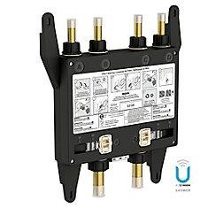 U by Shower Vanne de douche thermostatique numérique à 4 sorties