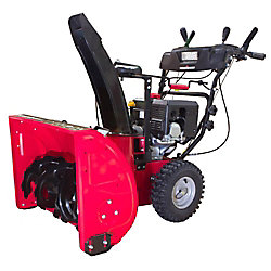 PowerSmart 24-inch 212cc 2-Stage Electric Start Gas Snow Blower with Headlight