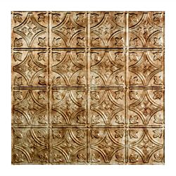 Fasade Traditional 1, 2x2 Lay in Ceiling Tile, Bermuda Bronze Finish