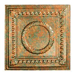 Fasade Tuile De Plafond Suspendu, 2pi x 2pi, Rosette, Copper Fantasy