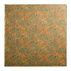 Fasade Border Fill 2x2 Lay In Ceiling Tile, Copper Fantasy Finish
