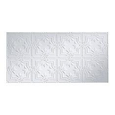 Regalia, 2x4 Glue Up Ceiling Tile, Matte Paintable White