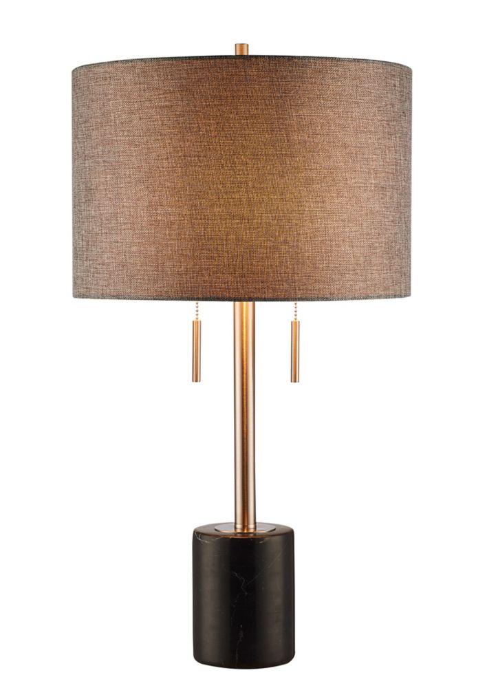 L2 Lighting 62 inch Floor lamp - Black marble