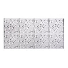 Traditional 2, 2x4 Glue Up Ceiling Tile, Matte Paintable White