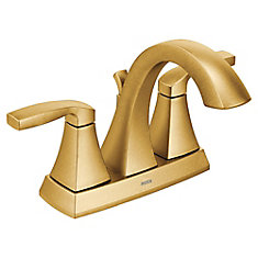 Voss 4-Inch Centerset 2-Handle Bathroom Faucet in Brushed Gold