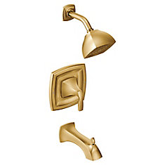 Voss Single-Handle Posi-Temp Tub and Shower Faucet Trim Kit in Brushed Gold