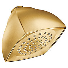 Voss One-Function 4-1/16-Inch Diameter Spray Head Eco-Performance Showerhead in Brushed Gold
