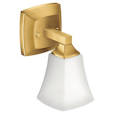 Voss One Globe Bath Light in Brushed Gold